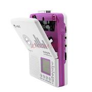 小霸王 数码音乐插卡复读机E705 支持外接U盘TF卡 LCD大屏5级变速随声听磁带机录音笔 紫罗兰+16G卡