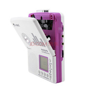 小霸王 数码音乐插卡复读机E705 支持外接U盘TF卡 LCD大屏5级变速随声听磁带机录音笔 紫罗兰