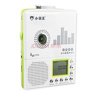 小霸王 数码音乐插卡复读机E705 支持外接U盘TF卡 LCD大屏5级变速随声听磁带机录音笔 草绿色+4卡