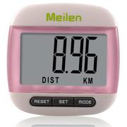 Meilen 计步器 手表记步器电子多功能跑步器 水晶粉
