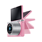 三星 NX mini 微型单电套机 粉色 (NX-M 9-27mm F3.5-5.6 ED OIS 镜头)