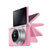 三星 NX mini 微型单电套机 粉色 (NX-M 9mm F3.5 ED 镜头)