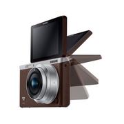 三星 NX mini 微型单电套机 棕色 (NX-M 9mm F3.5 ED 镜头)