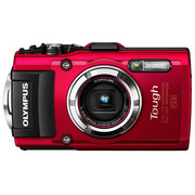 奥林巴斯 TG-3 超级运动相机(红色/五重全方位防护功能/F2.0光圈/超级微距/WIFI分享/25mm广角)