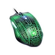 新盟 珠光蛇 有线 游戏鼠标 英雄联盟游戏 发光CF/LOL 绿色