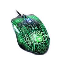新盟 珠光蛇 有线 游戏鼠标 英雄联盟游戏 发光CF/LOL 绿色产品图片主图