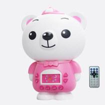 麦迪熊 麦欣欣儿童早教机故事机婴幼儿学习教具益智启蒙宝宝益智玩具 粉色带遥控器产品图片主图