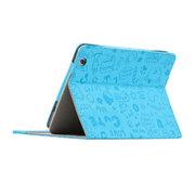 索士 台电P88s mini四核皮套 7.9寸平板电脑保护套 迷你小魔女外壳 天蓝