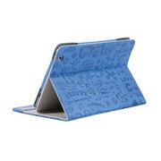 索士 台电P88s mini四核皮套 7.9寸平板电脑保护套 迷你小魔女外壳 蓝色