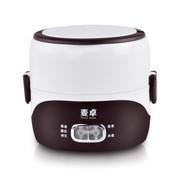 麦卓 Makejoy多功能酸奶机蒸煮电热饭盒MJ-2011双层加热保温饭盒不锈钢内胆插电保温 2011普通酸奶版咖啡色双层