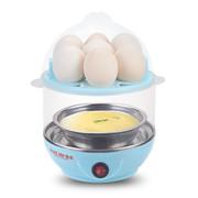 麦卓 Makejoy煮蛋器MJ-2116蒸水蛋7蛋容 不锈钢发热盘配蒸蛋架蒸蛋碗 MJ2116淡蓝色-双层