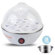 麦卓 Makejoy煮蛋器MJ-2116蒸水蛋7蛋容 不锈钢发热盘配蒸蛋架蒸蛋碗 MJ-2116白色单层