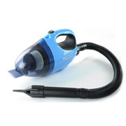 飞时 汽车车载吸尘器大功率吹风干湿两用车用吸尘器 蓝色款加过滤器加电瓶夹