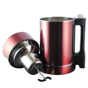 小鸭 XY-800M大容量豆浆机多功能全钢无网果汁机豆花机1.8L 红色
