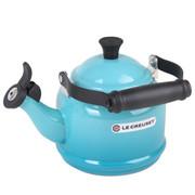 酷彩(Le Creuset) 法国   碳钢类 水壶 1.1升煮水壶 受热均衡加热快 加勒比蓝