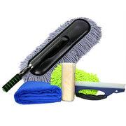 程稳 洗车清洁套装 擦车蜡拖 绒毛巾 海绵包 刮水板