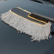 其它 乐卡思 汽车掸子 除尘掸 蜡刷蜡拖把除尘刷 可伸缩可拆洗保护车漆 灰色纯棉扁头