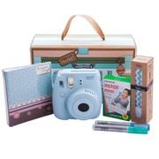 富士 instax mini8相机 礼盒新版套装(蓝)
