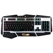 达尔优 掠夺者机械手感游戏键盘 黑色