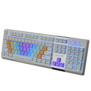 黑爵 英魂之刃AK10 背光游戏键盘 白色 DIY彩红键盘