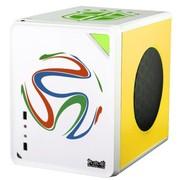 大水牛 牛仔MINI- 巴西队MOD  桌面机箱(背线/M-ATX主板/25CM全尺寸长显卡/ATX大电源/SSD)