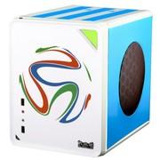 大水牛 牛仔MINI- 阿根廷队MOD  桌面机箱(背线/M-ATX主板/25CM全尺寸长显卡/ATX大电源/SSD)