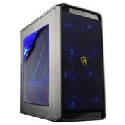 撒哈拉 黑客迷你M2玩家版 商用首选机箱 黑色 (豪华大侧透/支持背线/时尚风格)