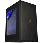 撒哈拉 方块BX3玩家版 高端商用U3机箱 黑色 (豪华大侧透/电源下置/支持背线/金属铝拉丝质感)