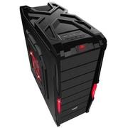 游戏悍将 V8战斗版黑网 机箱 USB3.0 0.6mm钢板 免螺丝 背线