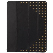 杰森克斯(jisoncase) 苹果iPad2/3/4保护套超强保护 新款朋克风 酷炫铆钉款 经典黑  JS-IPD-12H10产品图片主图