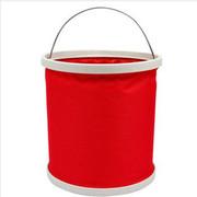 驿行者 9升折叠式洗车水桶 野营钓鱼水桶 车用便携水桶 汽车清洁用品 户外水桶 红色 9升红色