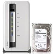 威联通 TS-212P NAS两盘位网络存储 含2T希捷盘 1.6GHz 512MB