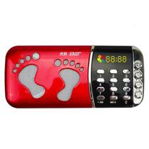 先科 迷你数码播放器CDA-919 MP3插卡音箱便携式迷你音乐播放器外放老人小音响收音机 红色标配无内存产品图片主图