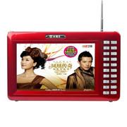 小霸王 移动可视播放器SB-610A 7英寸唱戏机扩音器支持歌曲同步读TF卡 红色标配+8G戏曲广场舞视频卡