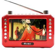 小霸王 移动可视播放器SB-603 4.3英寸屏看戏机收音录音扩音老人唱戏机 可插TF卡 红色标配+4G戏曲广场舞视频卡