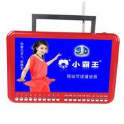 小霸王 移动视频机播放器608B 9.8寸大屏带收音电视插TF卡带遥控锂电扩音器看戏 红色标配+4G戏曲广场舞视频卡
