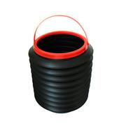 石家垫 汽车用品 多功能伸缩水桶 放雨伞 置物桶 收纳桶 4L 黑色