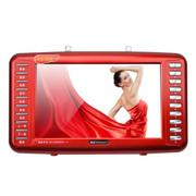 金正 视频播放器S-58 9寸视频扩音器老人看戏机唱戏机多功能收音机带电视 红色标配无内存