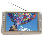 小霸王 高清数字看戏机可视播放器SU-8888A 9.8英寸屏收音录音数字点歌TF卡锂电扩音 土豪金标配+8G戏曲广场舞卡
