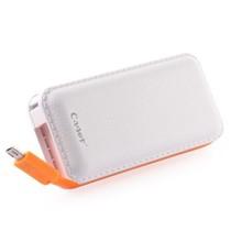 卡格尔(Cager) B069 智能移动电源 双USB 通用型 超大容量 仿真皮 充电宝 应急充 超薄一体 白色 5000毫安产品图片主图