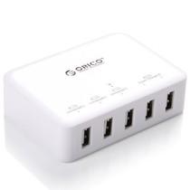ORICO DCAP-5S-WH 多口40W大功率2.4A苹果IPAD三星小米手机平板USB充电器产品图片主图