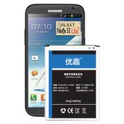 优嘉 适用于三星N7100 N7102 N7108电池 三星Note2 II 手机电池 电池加品牌座充