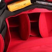 澳洲小野人 MD7002-X01P70 百万美元系列 专业时尚 单肩摄影包 单反一机三镜二闪    黑色