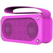 山水 E33 户外无线NFC蓝牙音响插卡迷你音箱便携式防摔防尘低音炮 玫瑰紫