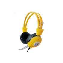 旋燕 XY-110MV游戏耳机 电脑耳机 时尚耳机抗暴力 PU线耳麦 纯音乐耳壳调音耳麦(黄色)产品图片主图