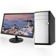 华硕 M31AD-I4154M2 台式电脑 (i3-4130 4G 7200转500GB GT620 1G独显 DVD DOS 皓月白)21.5英寸