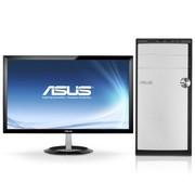 华硕 M31AD-I4154M1 台式电脑 (i3-4130 4G 7200转500GB GT620 2G独显 DVD DOS 皓月白)23英寸