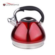 HUANXIPO 304不锈钢烧水壶4.5L大容量加厚复底彩色煮水壶鸣笛燃气电磁炉通用 4.5升不锈钢本色水壶