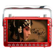 小霸王 视频扩音器S10 7寸视频老年人看戏机听戏机扩音器收音唱戏机带电视可插卡 红色标配