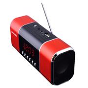 山水 迷你插卡便携音响音乐播放器老人收音机mp3插卡小音箱音响 红色